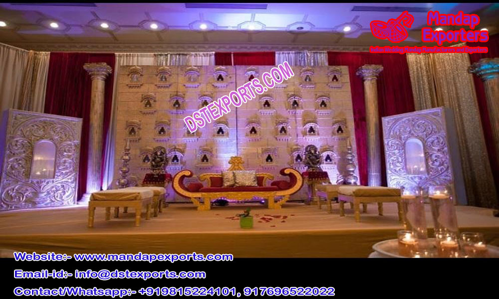 Best Wedding Stage Candle Walls Setup
