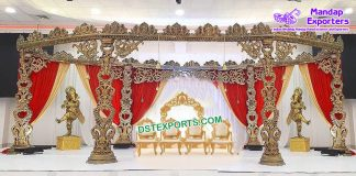 Designer Wooden Carved Wedding Mandap France
