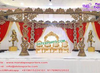 Designer Wooden Carved Wedding Mandap France