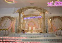 Exclusive Wedding Tri Pillars Wooden Mandap