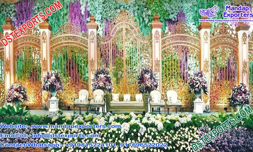 Exclusive Wedding Gate Designed Back-Walls