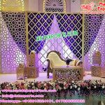 Glamorous Wedding Stage Candle Back Wall