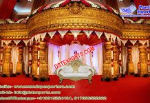 Grand Fiber Mandap for South Indian Wedding