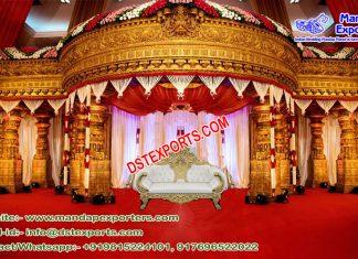 Grand Fiber Mandap for South Indian Wedding