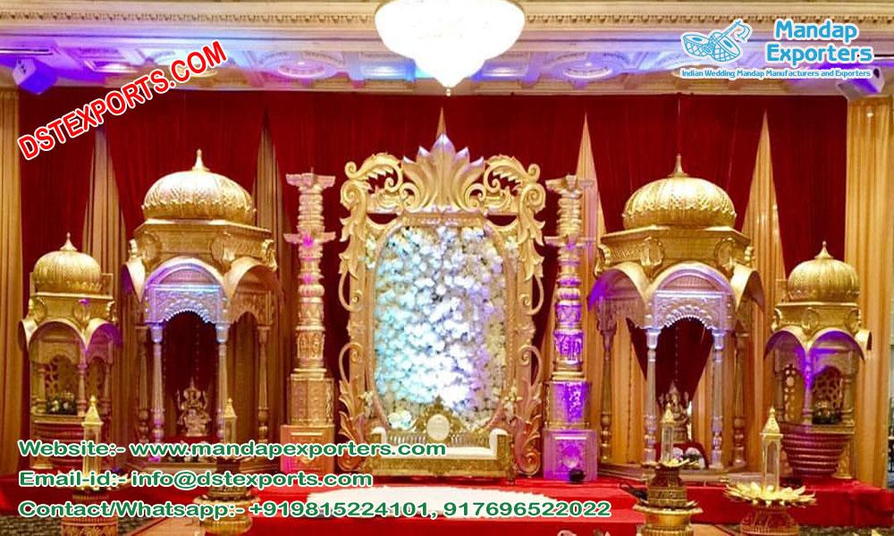 Grand Wedding Golden Fiber Stage England