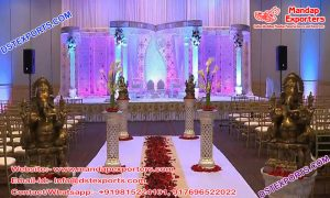 Hindu Wedding Butterfly Designed Crystal Mandap