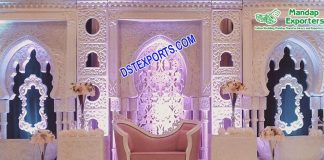 Latest Event Wedding Stage with 3D Photo Frames