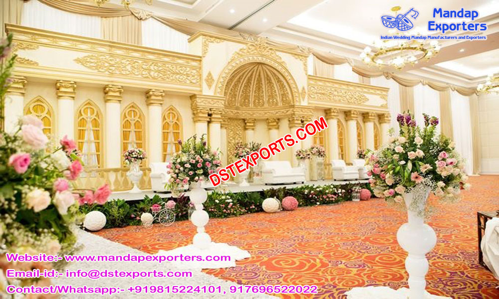 Maharaja Wedding Roman Stage USA