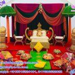 Mehndi Setup with decorated Umbrellas