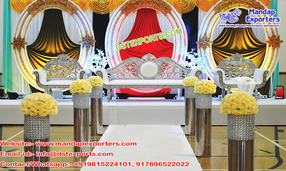 Modern Wedding Stage with Oval Panel