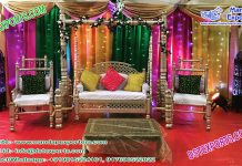 Muslim Wedding Jhula Set for Mehndi Function