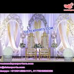 Royal Wedding Decoration With Oval Panels