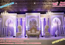 Stylish Wedding Stage With 3D Back-Frames