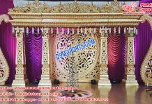 Top Golden Wedding Fiber Stage Decor USA