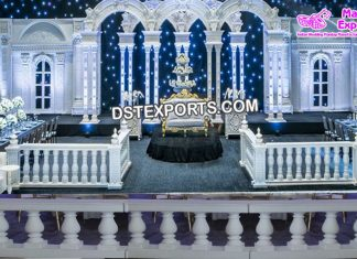 Wedding stage Fiber Balconies Decor Props
