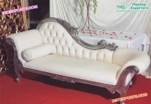 Asian Wedding Silver Chaise Sofa USA