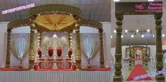 Classical Hindu Wedding Golden Fiber Mandap