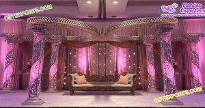 Elegant Wedding Butterfly Fiber Crystal Mandap