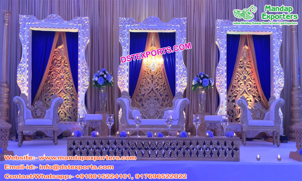 Eminent Wedding Silver Fiber Back-Frames Panels