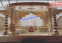 Fabulous Wedding Fiber Carved Mandap