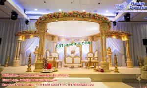 Glamorous Wedding Triple Pillar Mandap Germany