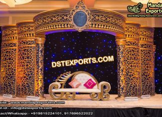 Grand Asian Wedding Golden Crown Stage UK