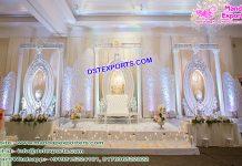 Grand Asian Wedding White Stage Set
