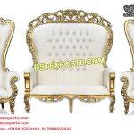 King Queen Wedding Throne Sofa Set