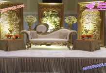 Muslim Wedding Golden Back-Frame Setup