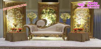 Muslim Wedding Golden Back-Frame Setup