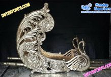 Silver Metal Carved Wedding Doli/Palki