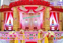 South Indian Wedding Bottle Pillar Mandap