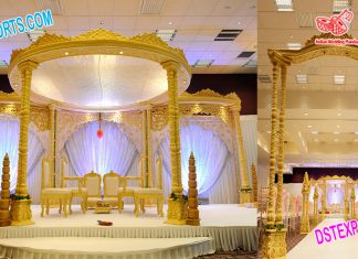 Special Wedding Double Pillar Wooden Mandap