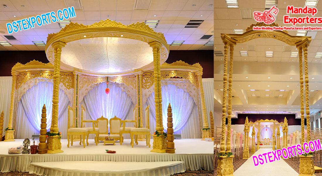 Special Wedding Double Pillar Wooden Mandap