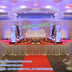 Wedding Peacock Crystal Umbrella Mandap USA