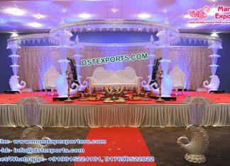 Wedding Peacock Crystal Umbrella Mandap USA