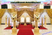 Wedding Triple Pole Maharani Mandap