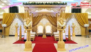 Wedding Triple Pole Maharani Mandap