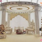 Wedding White Fiber Crystal Mandap USA