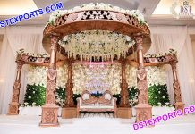 Beautiful Hindu Wedding Fiber Carved Mandap