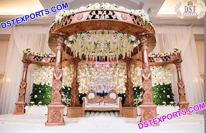 Beautiful Hindu Wedding Fiber Carved Mandap