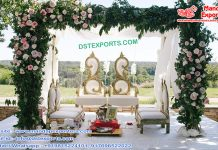 Designer Leaf Style Wedding Mandap Chairs