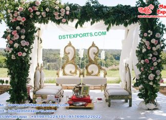 Designer Leaf Style Wedding Mandap Chairs