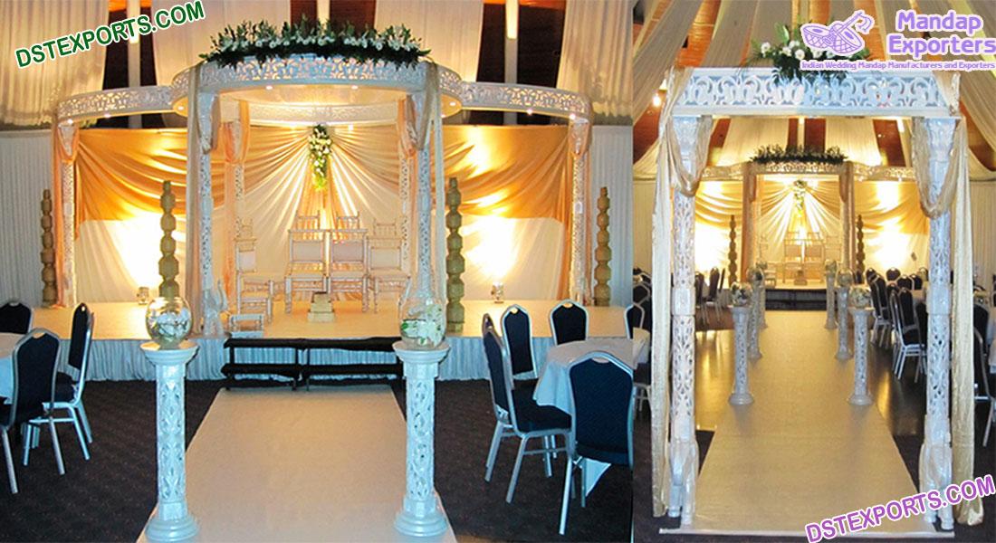 Elegant Hindu Wedding White Fiber Mandap Finland