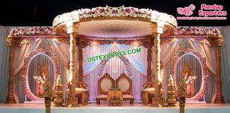 Exclusive Wedding Wooden Carved Mandap Sydney