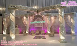 Exquisite Spiral Crystal Wedding Butterfly Mandap