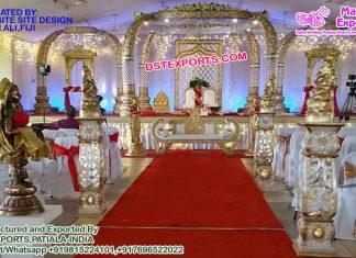 Exquisite Wedding Fiber Elephant Tusk Mandap