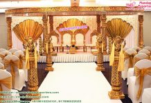 Top Marvelous Wedding Golden Mandap UK