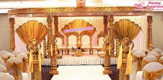 Top Marvelous Wedding Golden Mandap UK