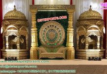 Grand Tamilian Wedding Stage with Fiber Temples